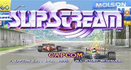 Title screen of Slip Stream on the Arcade.