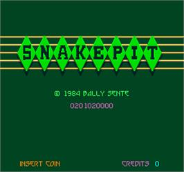 Title screen of Snake Pit on the Arcade.