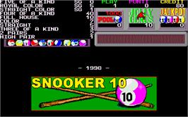 Title screen of Snooker 10 on the Arcade.