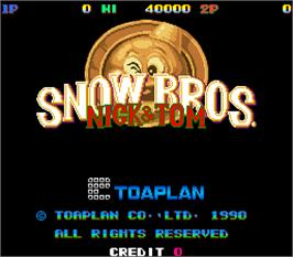 Title screen of Snow Bros. - Nick & Tom on the Arcade.