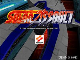 Title screen of Solar Assault on the Arcade.