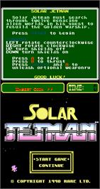 Title screen of Solar Jetman on the Arcade.