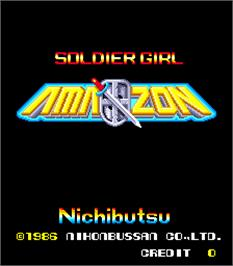 Title screen of Soldier Girl Amazon on the Arcade.