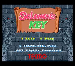 Title screen of Solomon's Key on the Arcade.