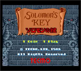 Title screen of Solomon no Kagi on the Arcade.