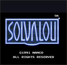 Title screen of Solvalou on the Arcade.