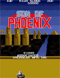 Title screen of Son of Phoenix on the Arcade.
