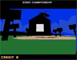 Title screen of Sonic Championship on the Arcade.