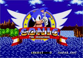 Title screen of Sonic The Hedgehog on the Arcade.