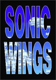 Title screen of Sonic Wings on the Arcade.