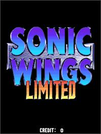Title screen of Sonic Wings Limited on the Arcade.