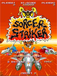 Title screen of Sorcer Striker on the Arcade.