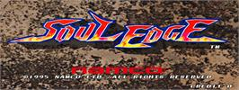 Title screen of Soul Edge on the Arcade.