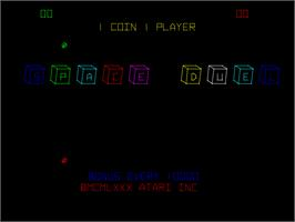 Title screen of Space Duel on the Arcade.