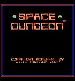Title screen of Space Dungeon on the Arcade.