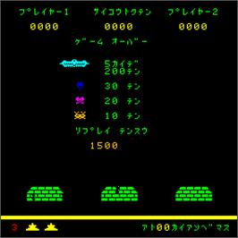 Title screen of Space Fighter Mark II on the Arcade.