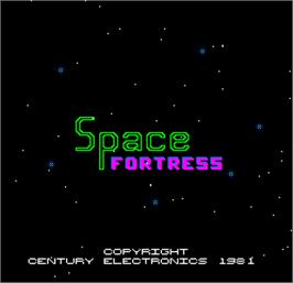 Title screen of Space Fortress on the Arcade.