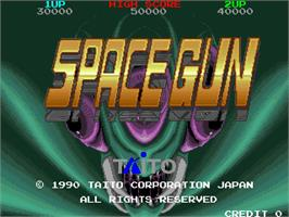 Title screen of Space Gun on the Arcade.