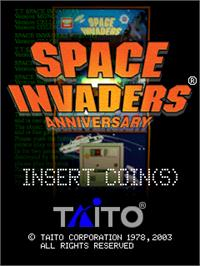 Title screen of Space Invaders Anniversary on the Arcade.