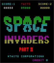 Title screen of Space Invaders Part II on the Arcade.