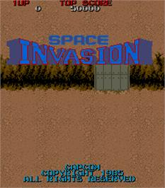 Title screen of Space Invasion on the Arcade.