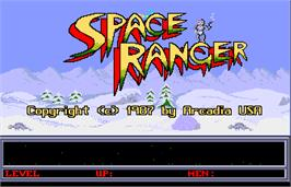 Title screen of Space Ranger on the Arcade.