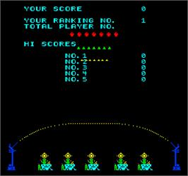 Title screen of Space Tactics on the Arcade.