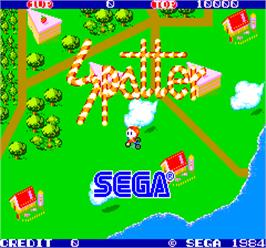 Title screen of Spatter on the Arcade.