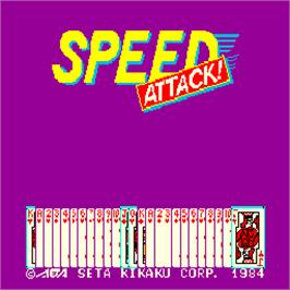 Title screen of Speed Attack! on the Arcade.