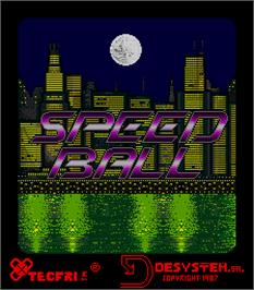 Title screen of Speed Ball on the Arcade.