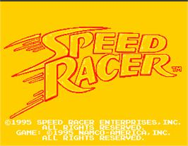 Title screen of Speed Racer on the Arcade.