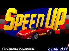 Title screen of Speed Up on the Arcade.