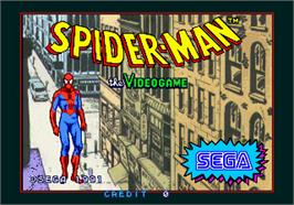 Title screen of Spider-Man: The Videogame on the Arcade.