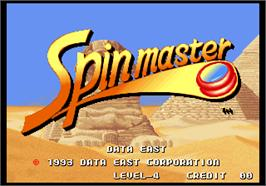 Title screen of Spin Master / Miracle Adventure on the Arcade.