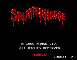 Title screen of Splatter House on the Arcade.