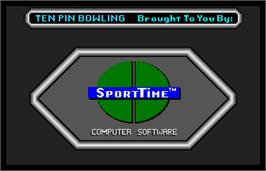 Title screen of SportTime Bowling on the Arcade.