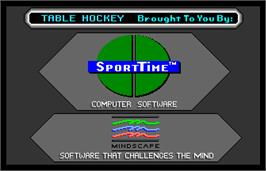 Title screen of SportTime Table Hockey on the Arcade.