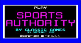 Title screen of Sports Authority on the Arcade.