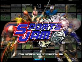 Title screen of Sports Jam on the Arcade.