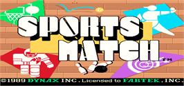 Title screen of Sports Match on the Arcade.