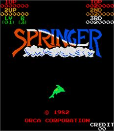 Title screen of Springer on the Arcade.