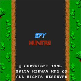Title screen of Spy Hunter on the Arcade.