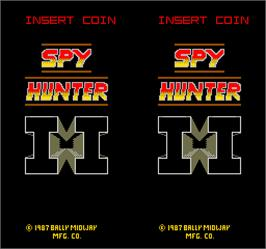 Title screen of Spy Hunter 2 on the Arcade.
