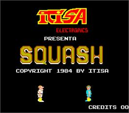 Title screen of Squash on the Arcade.