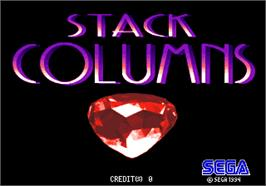 Title screen of Stack Columns on the Arcade.