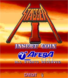 Title screen of Stagger I on the Arcade.