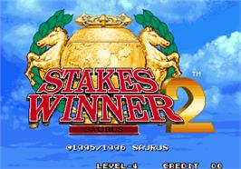 Title screen of Stakes Winner 2 on the Arcade.