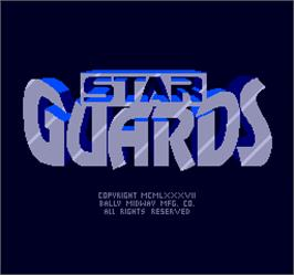Title screen of Star Guards on the Arcade.