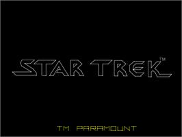 Title screen of Star Trek on the Arcade.