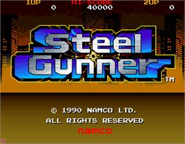 Title screen of Steel Gunner on the Arcade.